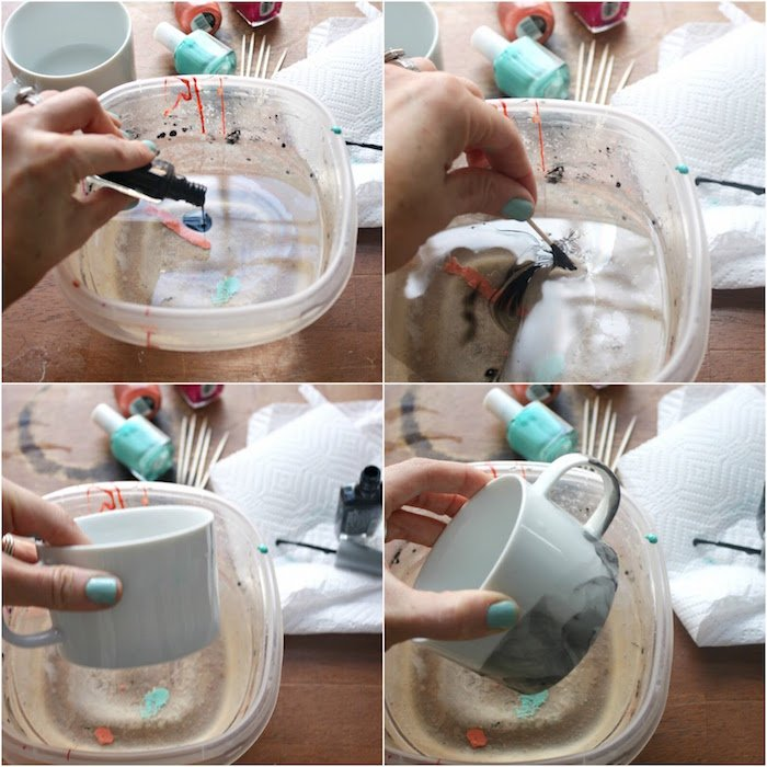 Muttertagsgeschenke selber machen - DIY Tassen bemalen