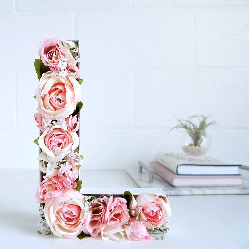 DIY Monogramm: Blumen Buchstaben selber machen