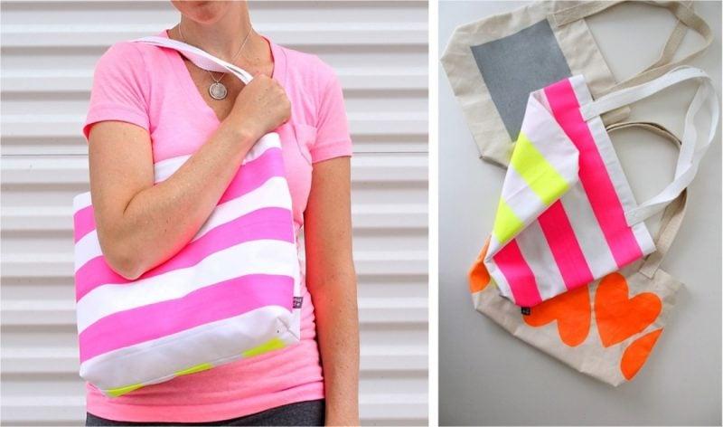 Kinder lieben bemalen! Warum nicht mit Färbung eine neue Tasche für die Mutti machen?