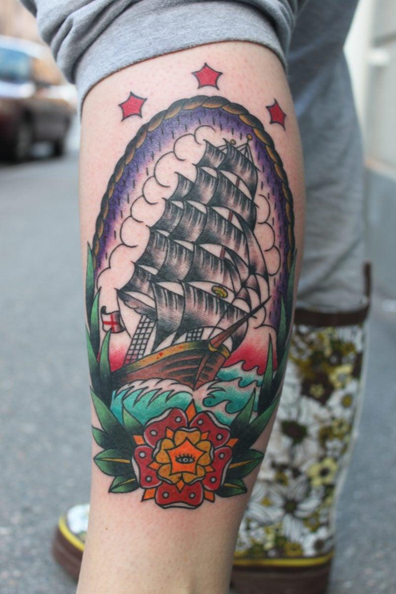 Old School Tattoo farbige Ideen