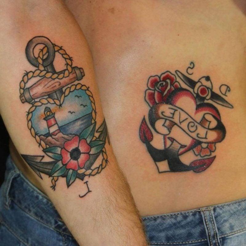 Old School Tattoo Anker