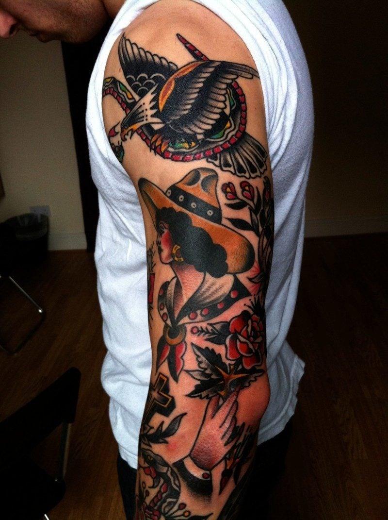 Old School Tattoo sind Trend