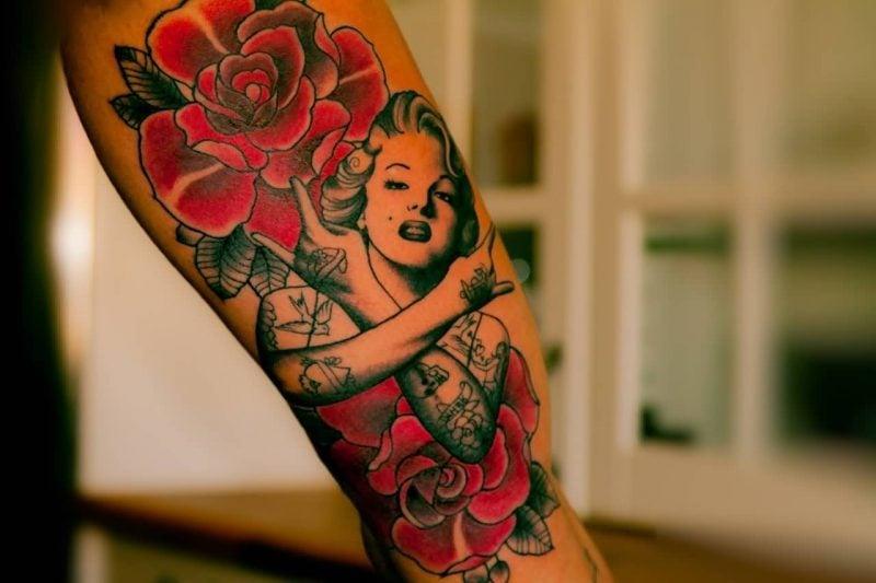 Old School Tattoo Rose