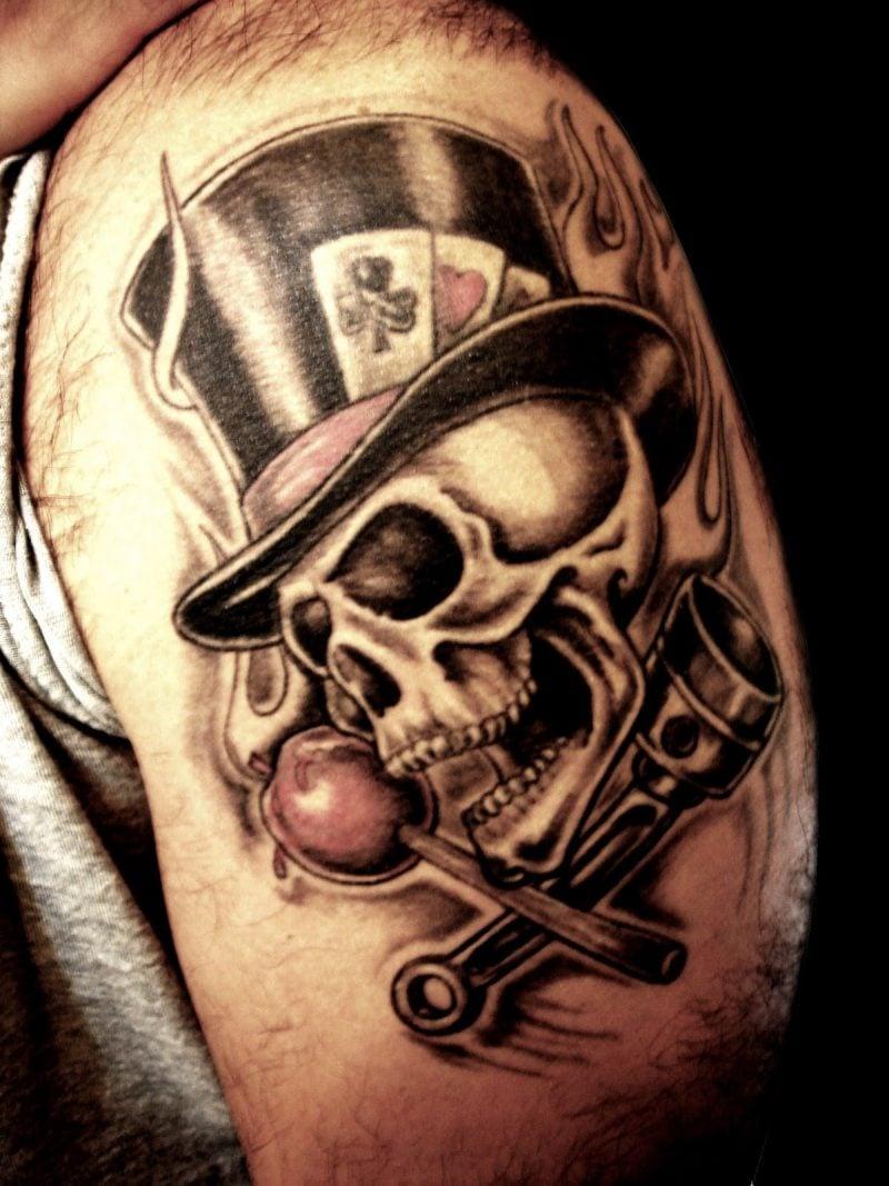Old School Tattoo Totenkopf