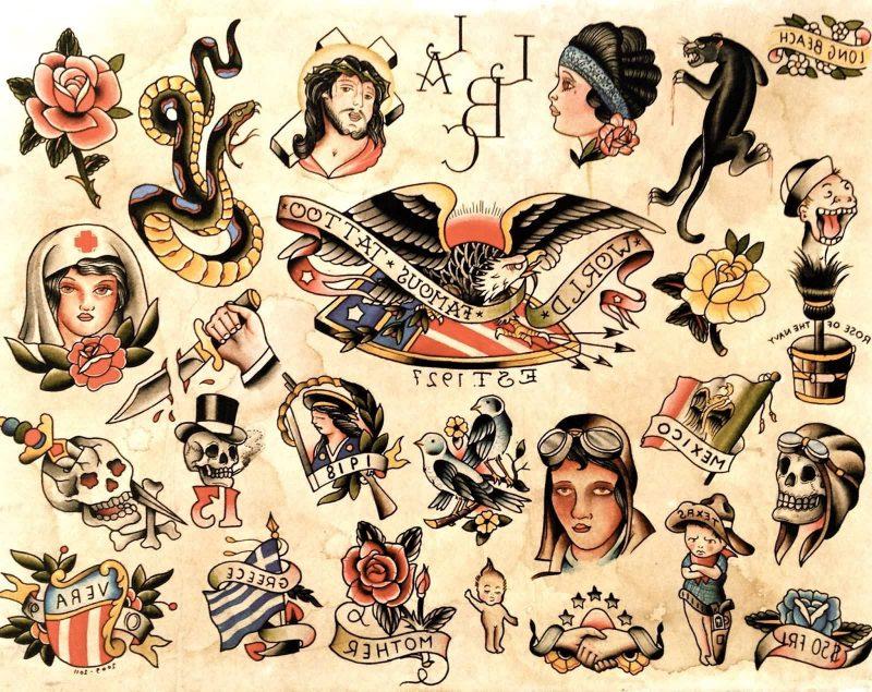 Old School Tattoo Vorlage