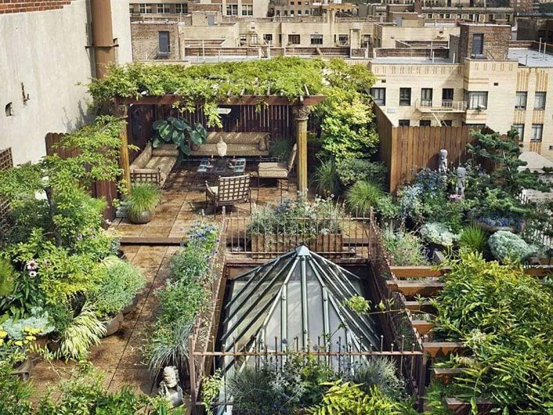 dachterrasse gestalten ideen tipps dachgarten anlegen