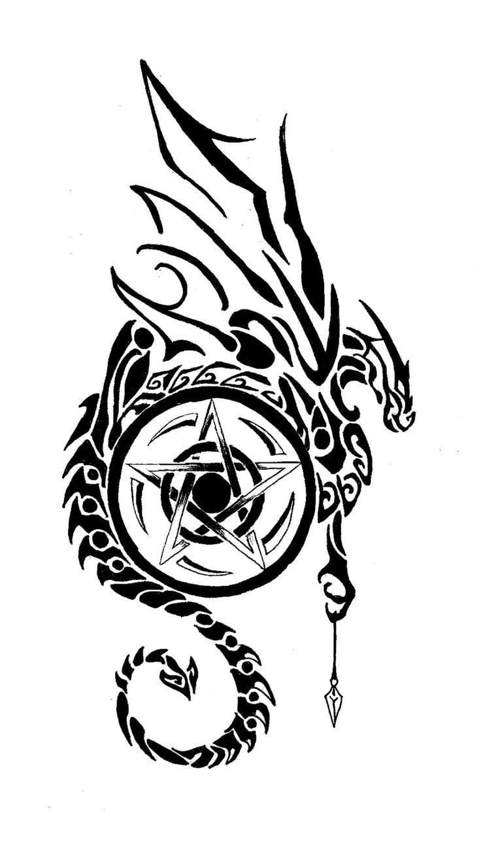 Pentagram Tattoo Vorlagen zum Ausdrucken