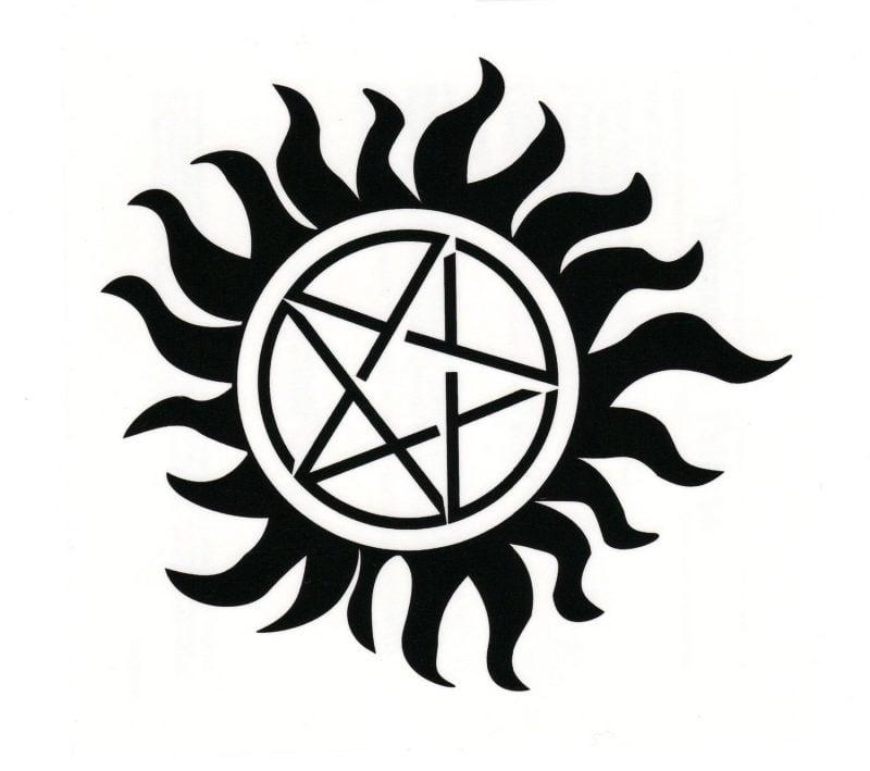 Pentagramm Tattoo Vorlagen zum Ausdrucken