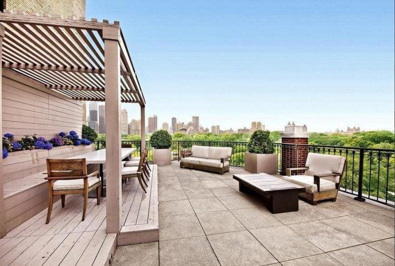 dachterrasse gestalten ideen tipps pflanzen terrassenmöbel