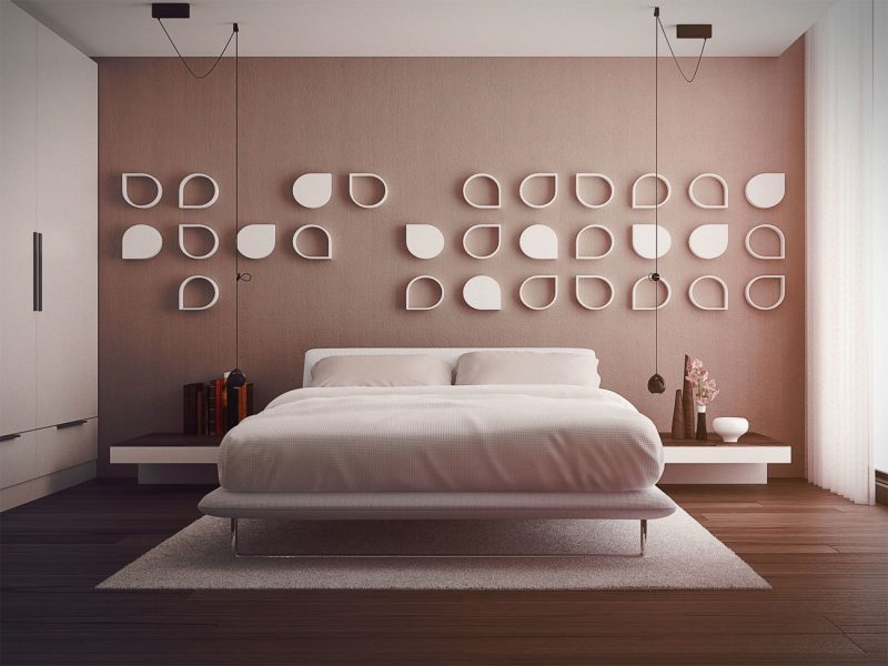 wandgestaltung schlafzimmer ideen rosa wandfarben wohnideen