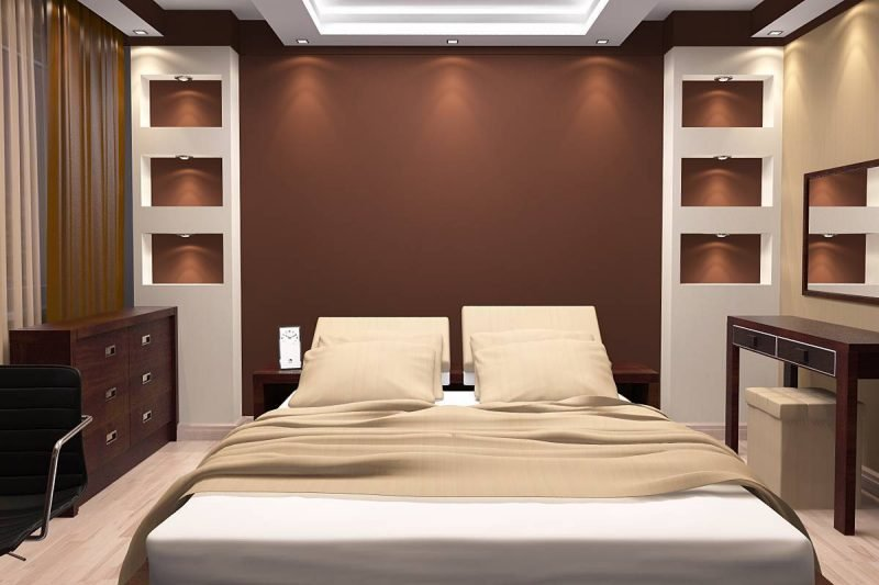 Wandgestaltung Schlafzimmer Ideen Braun Wohnideen Wandfarben
