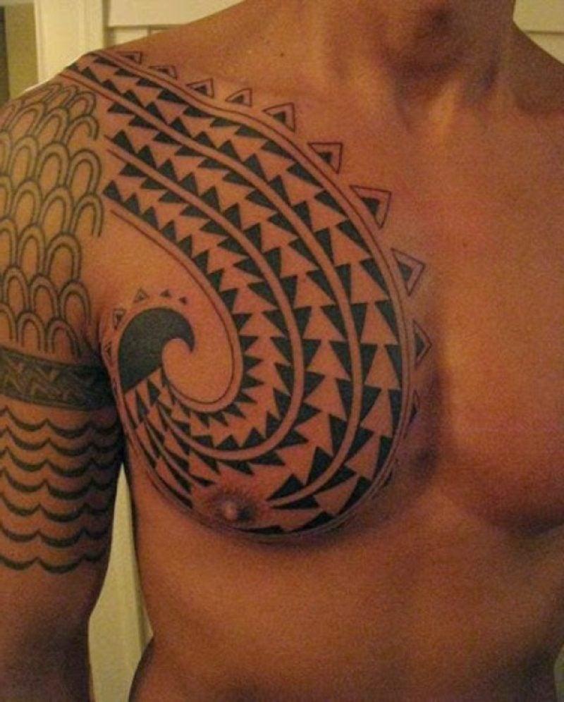 tattoo brust mann