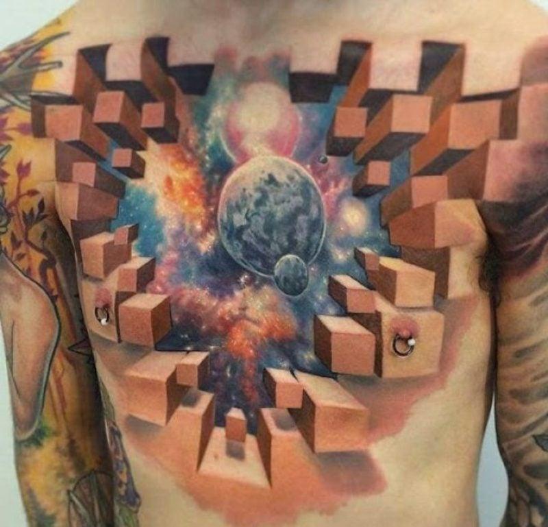 tattoo brustbein mann