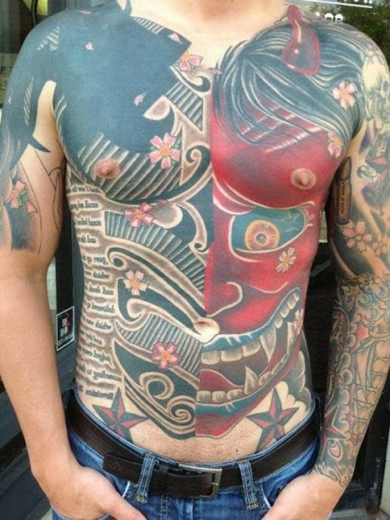 oberkörper tattoos männer