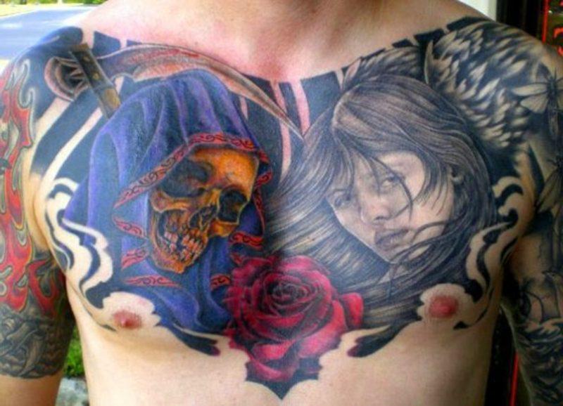 Tattoo Brust tattoo brustkorb seitlich frau