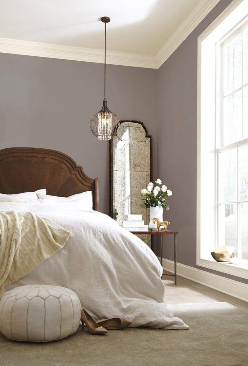 wandgestaltung schlafzimmer ideen taupe wohnideen