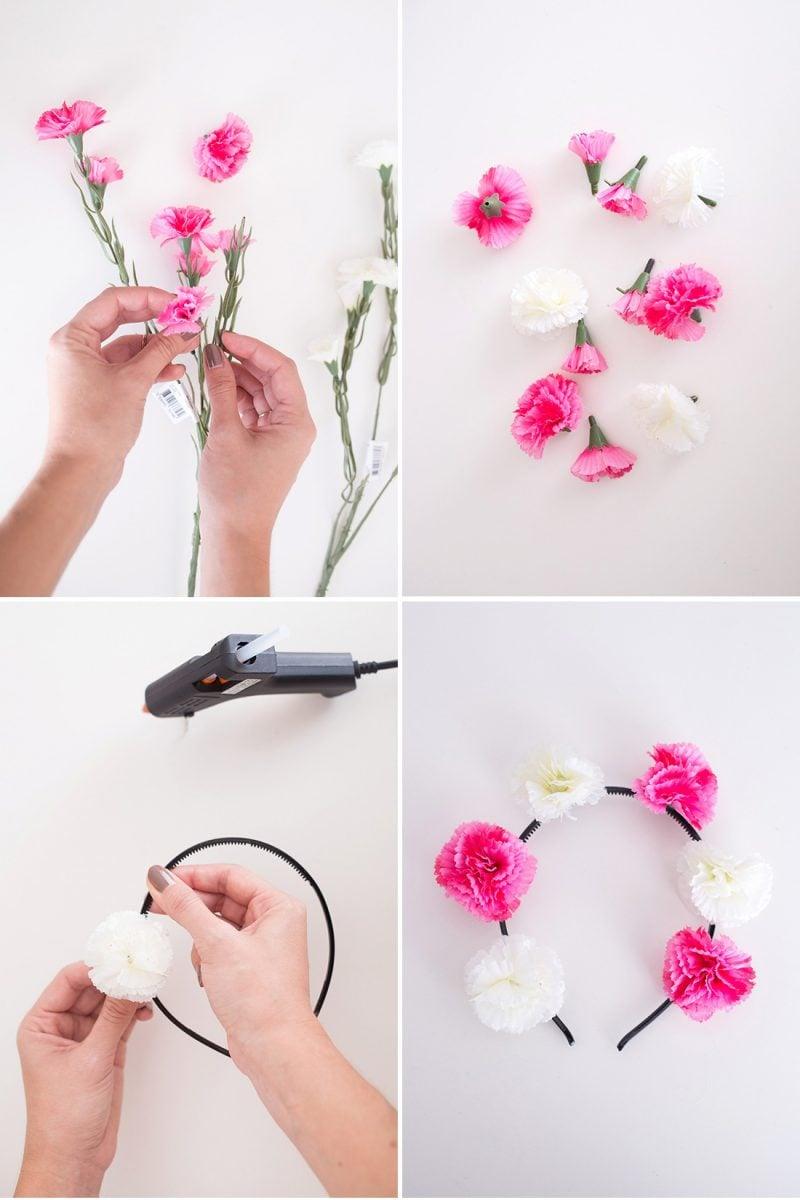 Blumen Diadem selber machen