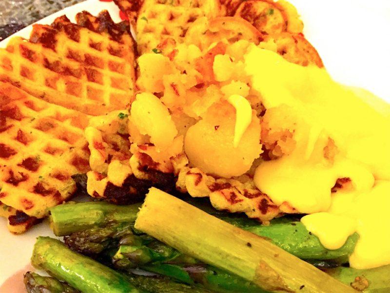 waffeln rezept Knusprig, fluffig, zahm: Vegane belgische Waffeln Vegane Waffeln mit heißen Kirschen