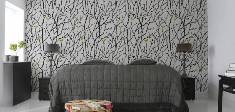 Wandgestaltung Schlafzimmer Ideen Wandfarben Wandtatoo Wandpaneele