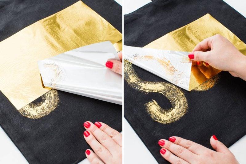 Goldene Buchstaben selber machen