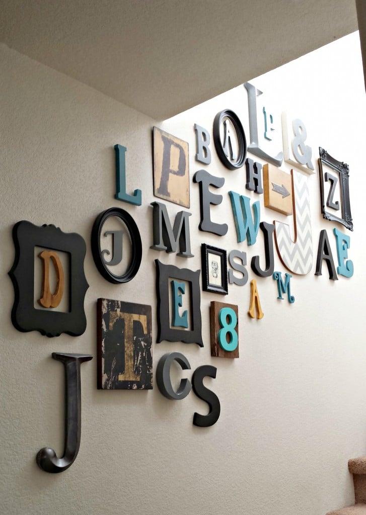 Wandgestaltung - typografische Innendekoration