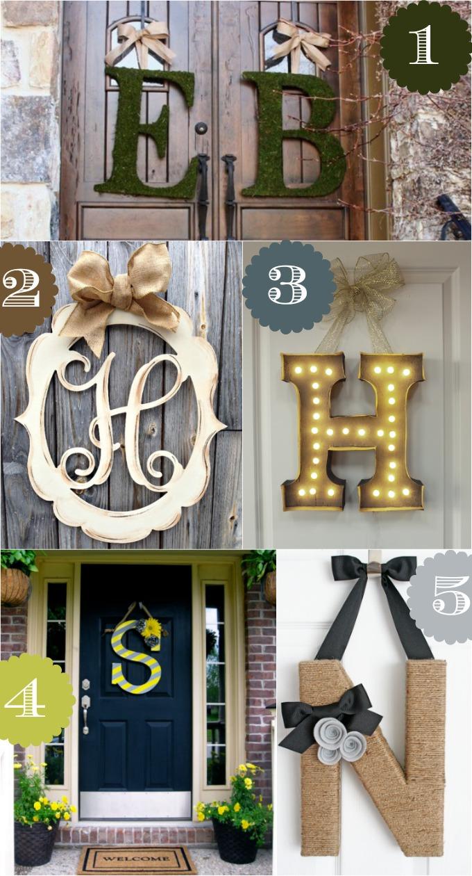 Beispiele für kreative Wandgestaltung mit selbstgemachten Buchstaben