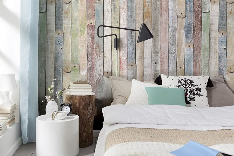 wandgestaltung schlafzimmer ideen wandpaneele vintage look