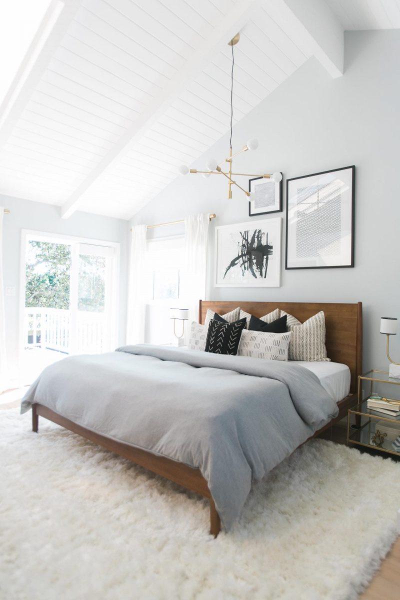 wandgestaltung schlafzimmer ideen weiß wandfarbe optische vergrößerung