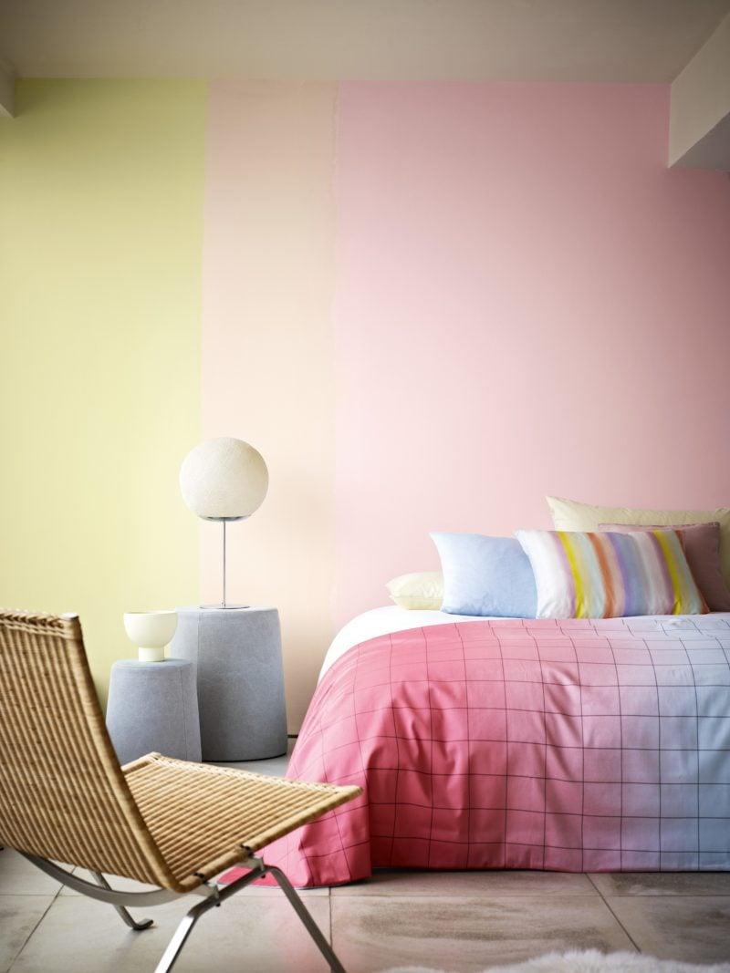 Wandgestaltung Schlafzimmer Ideen Ombre Wand Wohnideen