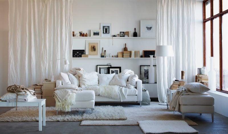 Zimmer einrichten in Weiß