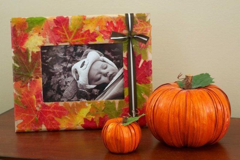 Herbstdeko Fotorahmen