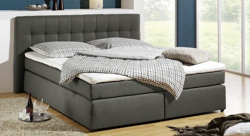Queensize Bett Matratzengrößen graue Polsterung