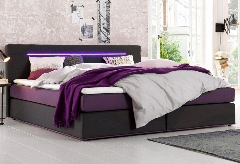 Bettgrößen Queensize Bett modern integrierte LED Beleuchtung