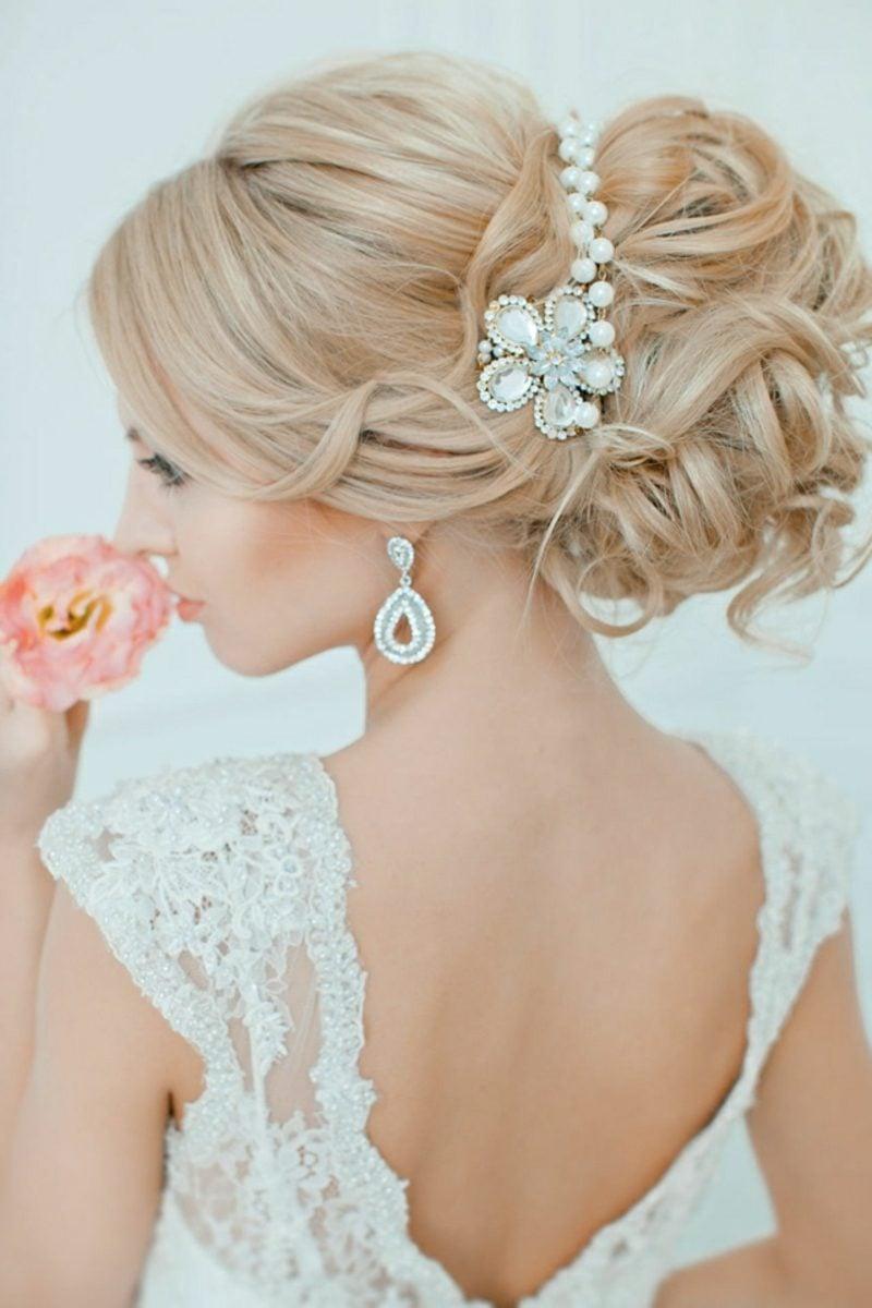 Frisurentrends 2016 Hochzeit hochgesteckte Haare
