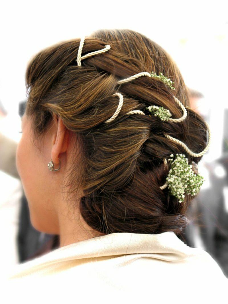 Hochsteckfrisuren Hochzeit extravagante Ideen