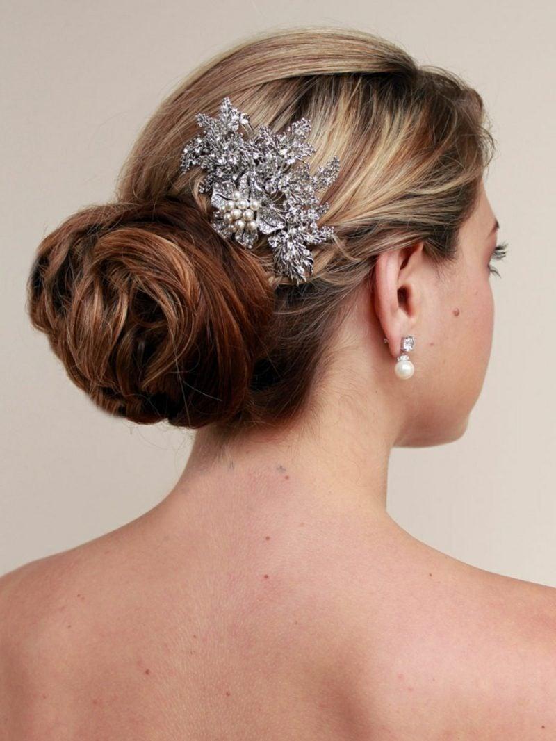 Hochsteckfrisuren 2016 Braut elegante Ideen