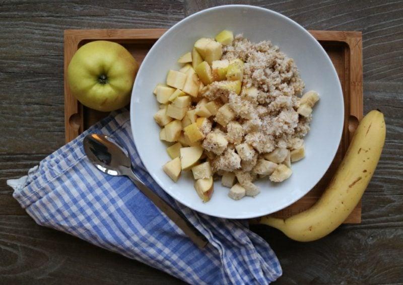 Kuskus Rezept Dessert mit Apfel und Banane