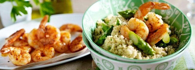 Kuskus Rezept leckeres Gericht mit Garnelen