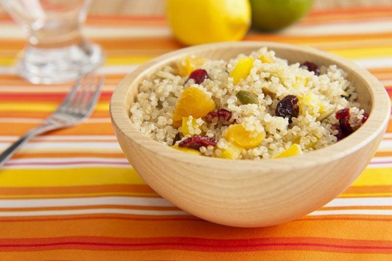 Couscous gesund Dessert mit Kürbis und Rosinen