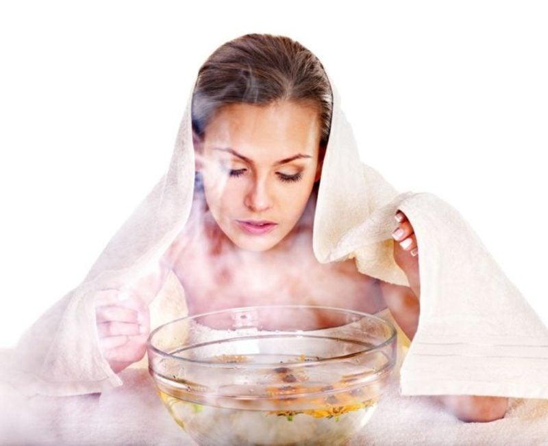 Dampfbad Gesicht Poren reinigen