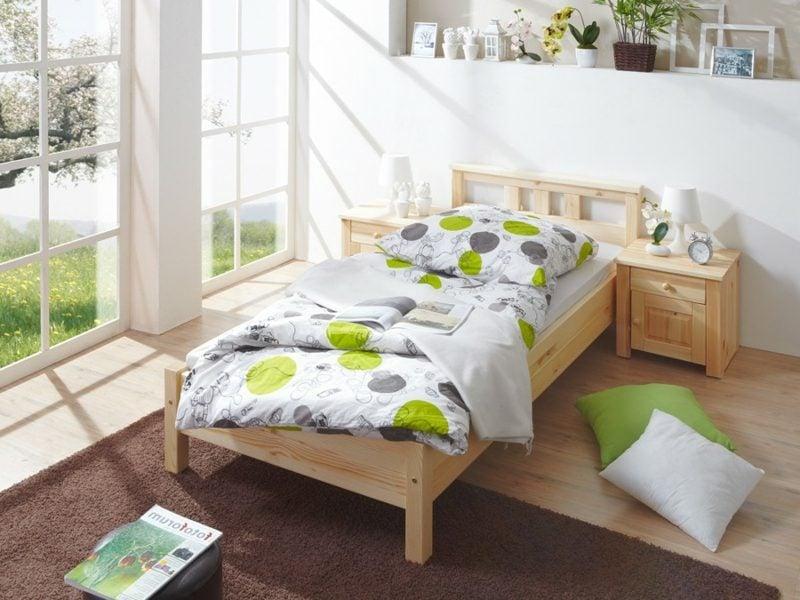 Bettgrößen Einzelbett Holz klassisch
