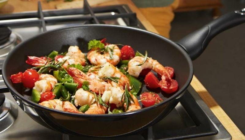 low carb Abendessen Rezept Garnelenpfanne