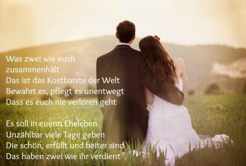 Hochzeitskarte romantisch Gedicht