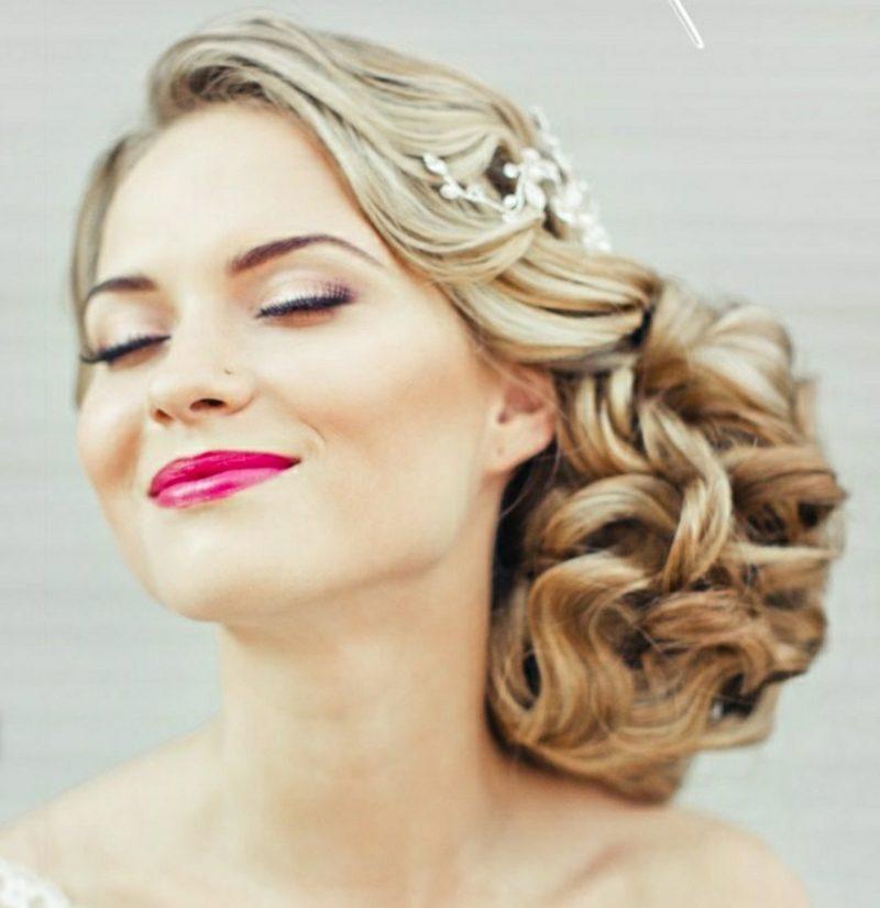 lockere Hochsteckfrisur Hochzeit
