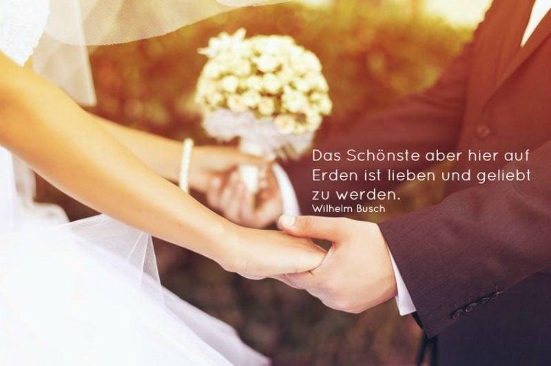 Glückwunsch Hochzeit Zitat von Wilhelm Busch weis