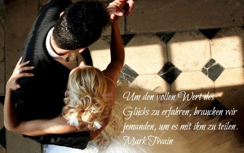 schöne kurze Sprüche zur Hochzeit Zitat von Mark Twain