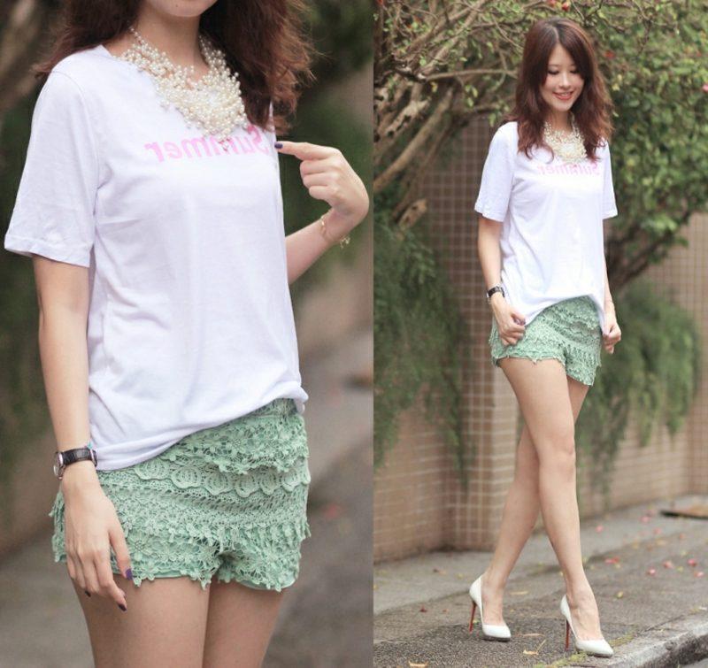 kurze Hosen Männer und Frauen moderne Sommer-Outfits