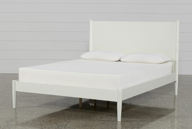 King Size Bett weiss puristisches Design