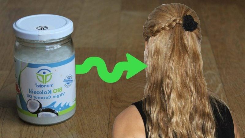 Kokosöl für die Haare gegen Kopfhautjucken