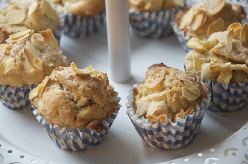 schnelles gesundes Essen Muffins mit Mandeln
